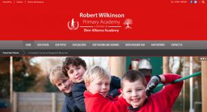 Robert Wilkinson Primary Academy Website Screenshot